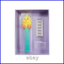 30 gram PAMP Suisse Chick PEZ Dispenser & Silver Wafers (withBox & COA)