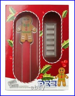 30 gram PAMP Suisse Gingerbread Man PEZ Dispenser & Silver Wafers (withBox & COA)