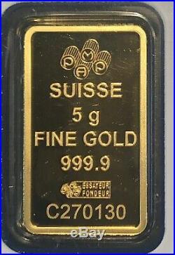 5 Gram Gold Bar Pamp Suisse Lady Fortuna Sealed(In Assay). #C270130