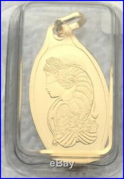 5 Gram Oval Gold Bar with PENDANT PAMP Fortuna