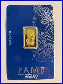 5 Gram PAMP Lady Fortuna Gold Bar 999.9 Fine In Assay #2