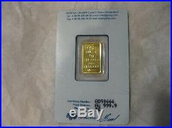5 Gram Pamp Suisse Lady Fortuna Gold Bar Sealed in Assay #A098444