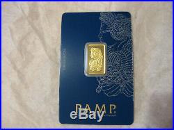 5 Gram Pamp Suisse Lady Fortuna Gold Bar Sealed in Assay #C054366