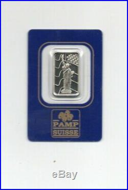 5 Gram Pamp Suisse Palladium Bar SEALED Assay Certificate No. 000268