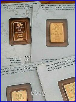 5 Gram Pure. 9999 Gold Bar Lady Fortuna Old Style In Assay. Limit One