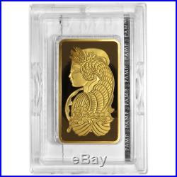 5 Troy oz Pamp Suisse Gold Bar. 9999 Fine Fortuna Veriscan