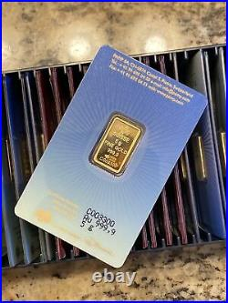5 gram Gold Bar PAMP Suisse Faith Religious Cross Gold Sealed Assay RARE