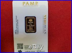 5 gram Gold Bar PAMP Suisse Fortuna 999.9 Fine in Sealed Assay, VERISCAN