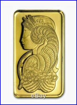5 gram Gold Bar PAMP Suisse Lady Fortuna (In Assay) Old Style Card. Limit 2