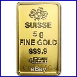 5 gram Gold Bar PAMP Suisse Lady Fortuna Veriscan (In Assay) SKU #82247