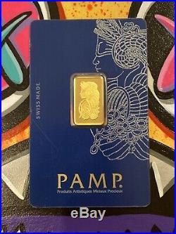 5 gram Gold Bar PAMP Suisse Lady Fortuna Veriscan Sealed Assay