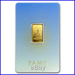 5 gram Gold Bar PAMP Suisse Religious Series (Buddha) SKU #94448