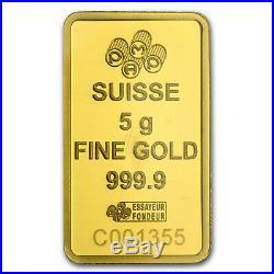 5 gram Gold Bar PAMP Suisse Religious Series (Lakshmi) SKU #94450