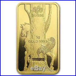5 gram Gold Bar PAMP Suisse Year of the Horse (In Assay) SKU #80094