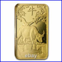 5 gram Gold Bar PAMP Suisse Year of the Ox (In Assay) SKU#225389