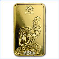 5 gram Gold Bar PAMP Suisse Year of the Rooster (In Assay) SKU #104119