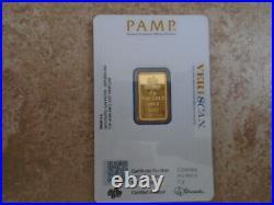 5 gram Pamp Suisse Gold Bar Veriscan 999.9 fine gold