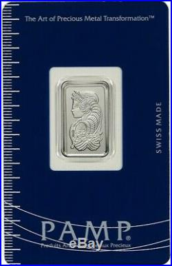5 gram Platinum Bar PAMP Suisse Fortuna 999.5 Fine in Sealed Assay Slip