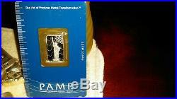 5 gram Platinum Statue of Liberty Bar in sealed assay card