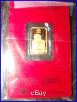 5 gram pamp suisse gold bar VERY LIMITED 2018 999.9 Year of the Dog C#3417
