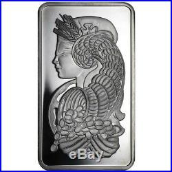 5 oz PAMP Suisse Lady Fortuna Platinum Bar. 999+ Fine (In Assay)