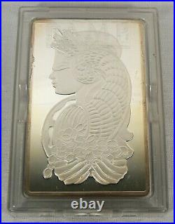 5 oz. Pamp Suisse Swiss. 999 Fine Silver Lady Fortuna Ingot Bullion Bar #001095