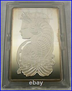 5 oz. Pamp Suisse Swiss. 999 Fine Silver Lady Fortuna Ingot Bullion Bar #001097