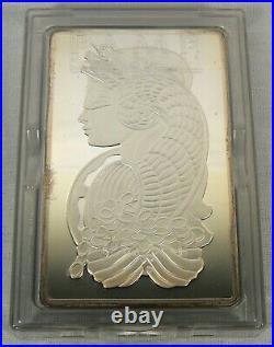 5 oz. Pamp Suisse Swiss. 999 Fine Silver Lady Fortuna Ingot Bullion Bar #001099