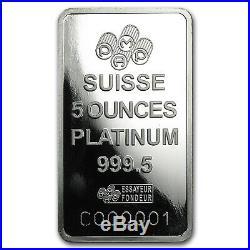 5 oz Platinum Bar PAMP Suisse (In Assay) SKU #93596