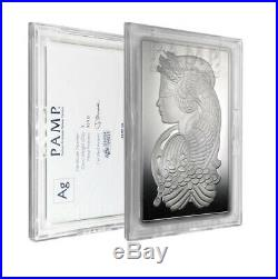 5 oz Silver Bar PAMP Suisse (Fortuna, In Capsule with Assay)
