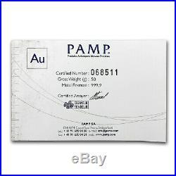 50 gram Gold Bar PAMP Suisse (Cast, withAssay) SKU #75518