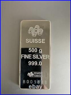 500 Gram Pamp Suisse Silver Fortuna Bar