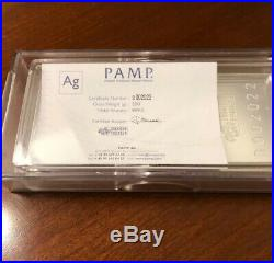 500 g. 999 Silver PAMP Suisse Fortuna Bar. Capsule + Assay Included