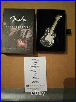 75th Anniversary PAMP Fender Stratocaster 1 oz Silver bar/ coin