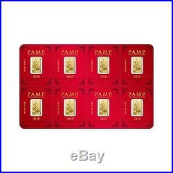8x1 gram Gold Bar PAMP Suisse Lunar Mouse / Rat Multigram+8 (In Assay)