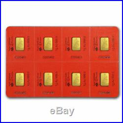 8x1 gram Gold Bar PAMP Suisse Lunar Rat Multigram+8 (In Assay) SKU#198743