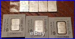 999 Platinum Lot, 7 GRAMS TOTAL, 4g Valcambi Suisse & 3g PAMP Suisse Bars