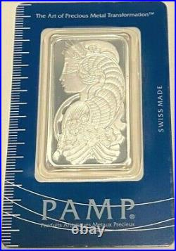 BOX OF 25 Pamp Suisse Lady Fortuna. 999 Silver Bar 1 OZ in Certified Assayer