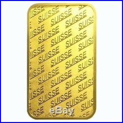 Box of 25 1 oz Gold Bar PAMP Suisse New Design (In Assay)