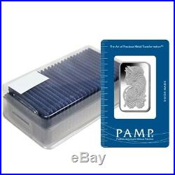 Box of 25 1 oz PAMP Suisse Lady Fortuna Platinum Bar. 9995 Fine (In Assay)