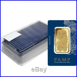 Box of 25 100 gram Gold Bar PAMP Suisse Lady Fortuna Veriscan (In Assay)