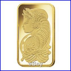 Box of 25 2.5 gram Gold Bar PAMP Suisse Lady Fortuna Veriscan. 9999 Fine In