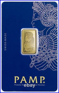 Box of 25 PAMP Fortuna 5 g Gold Bars In Assay