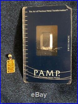 ELEGANT Pamp Suisse Lady Fortuna 24k gold pendant/charm for necklace! NICE