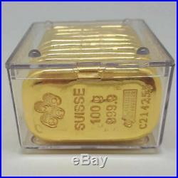 GOLD BAR 100 Grams Gold Bar Minted 24 KARAT PURITY 9999.999 PURITY
