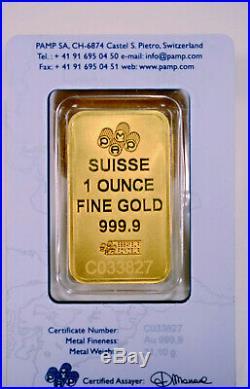 GOLD BAR 1oz. 999.9 PURE