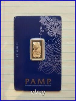 Gold Bar 5 gram Pamp Suisse in assay