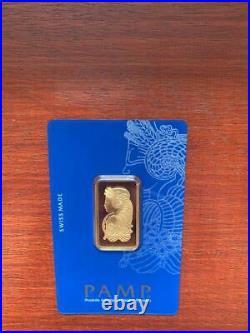 Gold bullion Pamp 15.55g 1/2Oz minted bar Sealed + Certificate