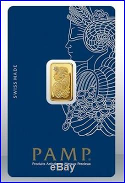 Gold bullion Pamp 2.5g minted bar Sealed + Certificate