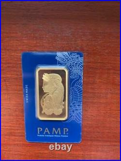 Gold bullion Pamp 50g minted bar Sealed + Certificate